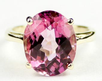 Pure Pink Topaz, 14Ky Gold Ring, R055