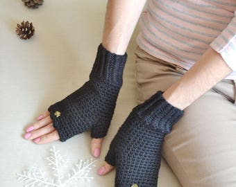 arm warmers fingerless gloves  gift|for|her birthday knitted gloves mittens black gloves birthday gift|for|womens accessories alpaca gloves