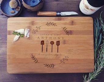 Custom Cutting Board, Personalized Cutting Board Chopping Board Wood, Custom Butcher Block, Cheese Board, Couple Cutting Board, Wedding Gift