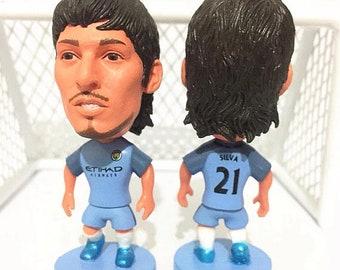 "Manchester City David Silva #21 Toy Figure 2.5"""