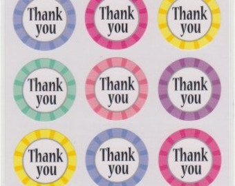 Thank You Stickers - Japanese Stickers - Reference A6301-02