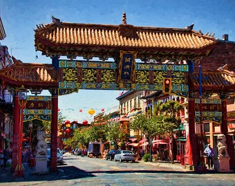 Chinatown Print, Chinatown Decor, Asian Decor, Asian Art, Chinese, Asian Wall Art, Paper Lanterns, Victoria, British Columbia