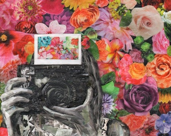 Instantly (original mixed media collage)