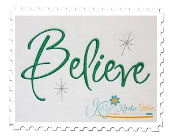 Believe Text with Stars