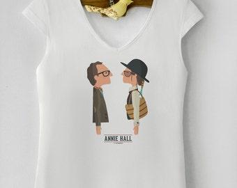 """Camiseta de mujer """" Annie Hall """". Basada en la película de Woody Allen."""