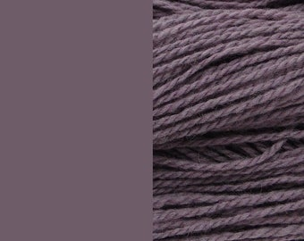 Wool yarn, dusty lilac/purple, bulky 2-ply worsted pure wool knitting yarn 50g/65m cake
