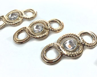 3 PCS Gold Covered Links Beads Pendants for Fashion and Crafts