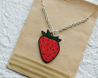 Strawberry Swing Necklace