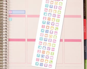 Icon Variety Strip - Planner Stickers - Fits Any Planner!