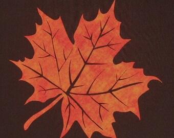 Large Maple Leaf Quilt Applique Pattern Design