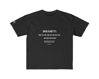 Youth Retail Fit Tee  Einstein Insanity White Print