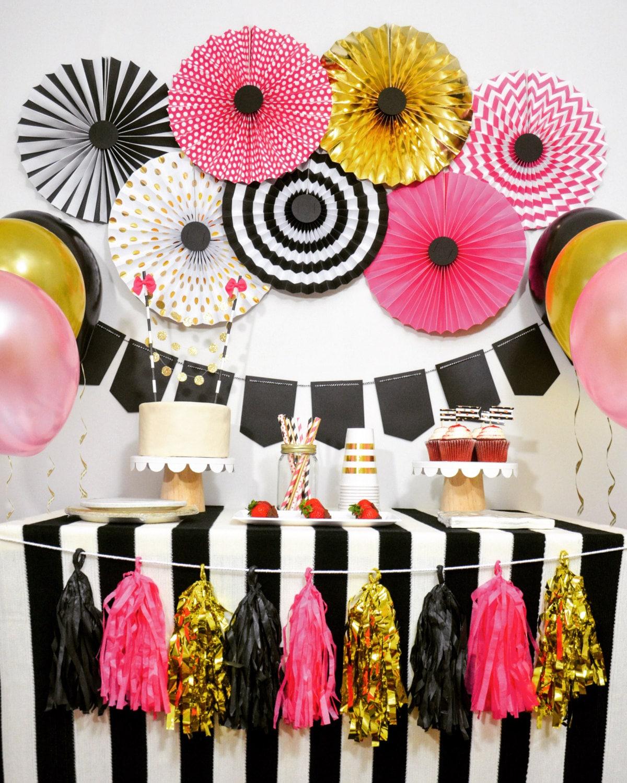 Birthday Party Decorations Bridal Shower Bachelorette Sweet 16 Black