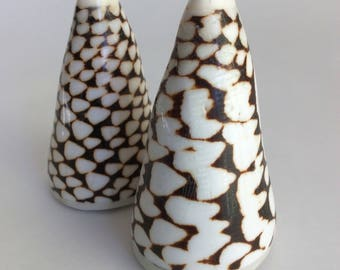 Real Shell Salt and Pepper Shakers