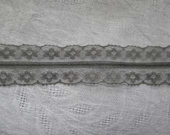 grey lace, Ribbon of 3 cm in height
