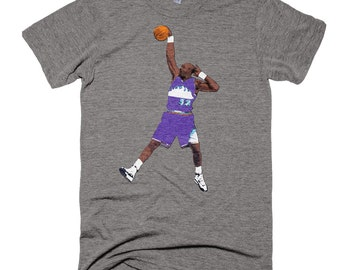 Karl Malone Dunk Pose T-Shirt