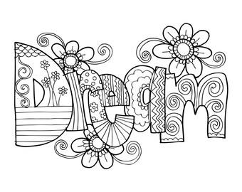 KPM Doodles Coloring page Dream