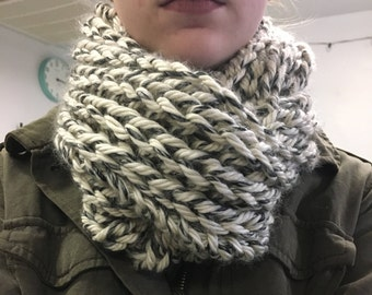 Chunky Hand-Knit Infinity Scarf