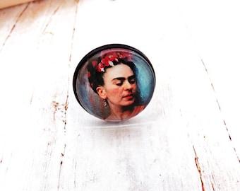 Frida in Blue Black Ring/ Frida Jewelry
