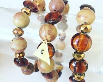 Personalized tortoise bracelet set, Tortoise Stamped initial bracelet set, Personalized jewelry, Initialed bracelets, Personalized jewelry