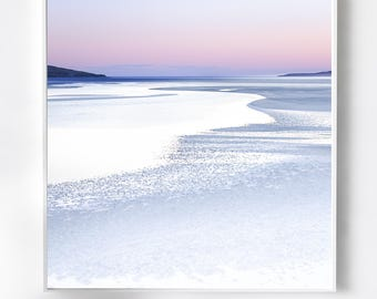 Extra large wall art - pink beach abstract - modern art scottish landscape - Very Large Photography - oversized canvas -