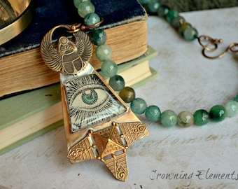 Jade Pharaoh's All Seeing Eye Necklace