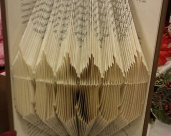 """Folded Book Art """"Acorns"""" - Made to Order"""
