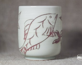 One Yunomi tea cup for Japanese tea - handmade *0617