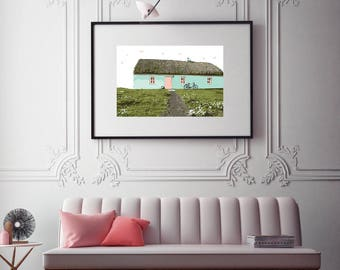 Thatched Cottage Print