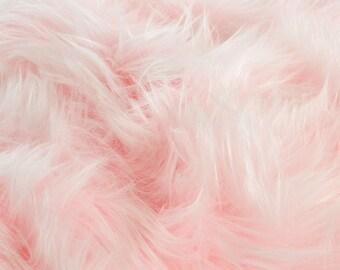 Pink Fur Fabric : Craft Squares- Baby Pink Fur Fabric, Baby Pink Fake Fur, Baby Pink Faux Fur, Pastel Pink Fake Fur, Pale Pink Fur Fabric