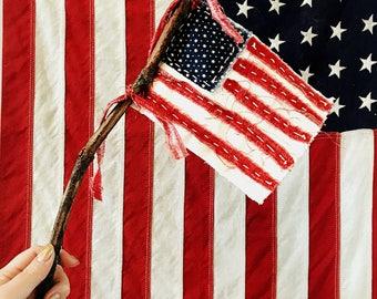 Hand-stitched Primitive Flag