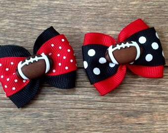 Tampa Bay Buccaneers Dog or Infant Football Bow-Bucs Football Bow-Tampa Bay Bucs Baby Bow-Small Bucs Football Bow-Tampa Bay Bucs Dog Bow