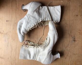 Antique Edwardian Leather Boots