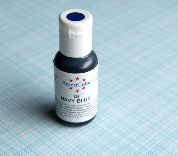 NAVY Blue Food Coloring, Dark Blue Gel Paste, Americolor Gel Paste ...