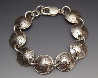 Mercury Dimes Bracelet made from 8 Vintage American Coins