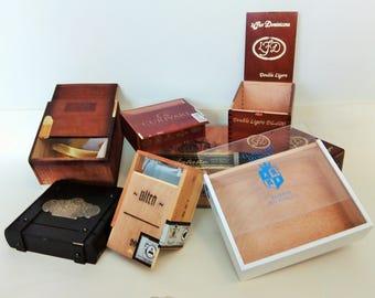 Wooden Cigar Boxes - Empty Cigar Box