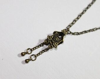 SALE-Cuckoo Clock Necklace
