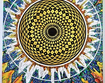 Sunflower Torus Mandala