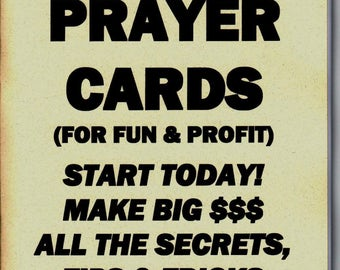 HOW TO MAKE and sell prayer cards for fun and profit book