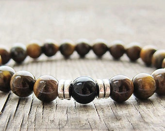 Gifts for men Gift for husband Mens gift Mens Bracelet for men Tiger eye bracelet Beaded Bracelet Balance Bracelet Natural stone bracelet