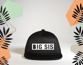 BIG SISTER Snapback Hat | Lil Sis Trucker Hat | Big Sis or Little Sis | Big Sister Gift | Birth Announcement | Sibling Hat by LAHI Design