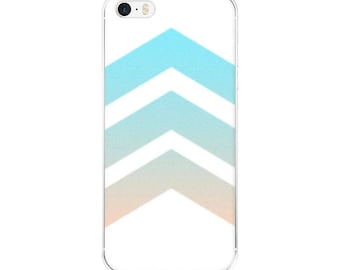 Chevron iPhone Case - FREE SHIPPING to USA apple iphone cases plastic slim fit skinny snap on case pastel ombre blue pink cute girly