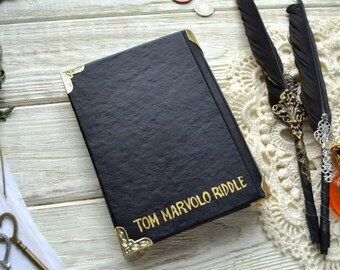 Dayner of Tom Riddle A6 Diary Notebook Journal Handmade Paper Notebook Vintage Style Wedding Guest Book, Guestbook Gift