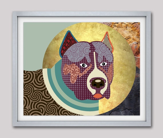 Pit bull Dog Art, Pit bull Gifts, Pit bull  wall Art, Pit bull Poster, Pit bull Decor, Pit bull Painting, Pop Art Dog Print