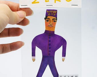 Custom Portrait/English Name-Portrait/Portrait/Order-making/Unique art/Paper doll/100 % handmade/Only one thing for U