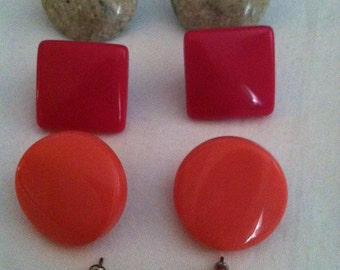 Four Pair Vintage Stud Earrings