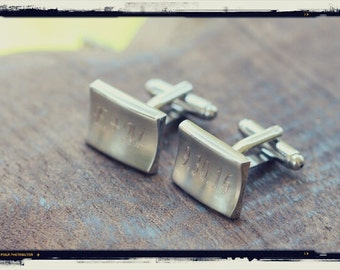 Groomsmen Gift, Personalized Groomsmen Cufflinks Custom Engraved Cuff Links, Wedding Gift for Father of the Bride