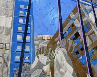 The Reflecting  Petal Stone Art Mosaic