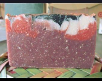 Orange Cranberry Holiday Handmade Soap