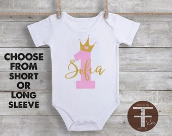 Custom Name Onesie, Custom Baby Onesie, Personalized Baby Gift, First Birthday Onesie, Baby Shower Gift, Baby Girl Clothes, Take Home Outfit