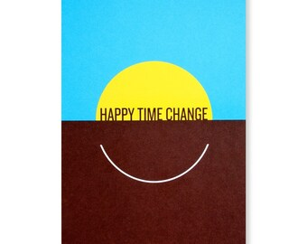Happy Time Change Greeting Card